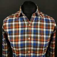 Tommy Hilfiger Mens Shirt SMALL Long Sleeve Multicoloured Vintage Fit Check