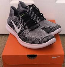 Nike Free RN Flyknit 2017 'Oreo' Running Shoe Black/ White 880843-003 Men Sz 14