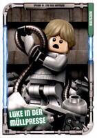 189 - Luke in der Müllpresse - LEGO Star Wars Sammelkarten Serie 1