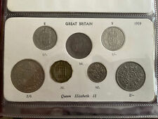 More details for 1959 great britain elizabeth ii coin year set half crown to half penny