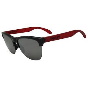Oakley Frogskins Lite Sunglasses Matte Translucent Red Frame Prizm Black Lens