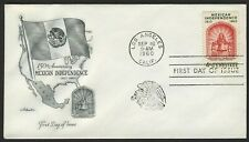 #1157 4c Mexican Independence, Artmaster FDC **ANY 4=FREE SHIPPING**