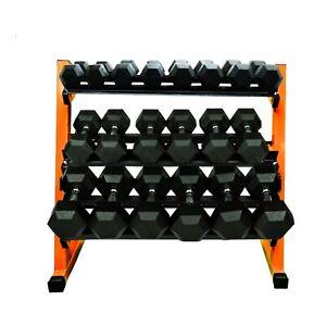400KG Three Tier Dumbbell Rack - Orange
