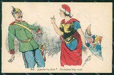 WWI WW1 Propaganda Patriotic War Humor Kaiser Wilhelm Map postcard XF3253