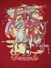 Guy Harvey Fsu Seminols Nativo Americano Jefe Horse-Small Rojo T-SHIRT-B1119