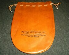 Rare 1930's Potosi Brewery Leather Coin Bank Bag, Potosi Beer, Wisconsin