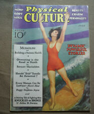 vtg old PHYSICAL CULTURE Magazine fitness exercise body building fashion 1932 ju
