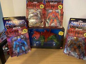 MOTU Masters of the Universe He-Man Super 7 Figures and origins Battle Cat