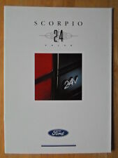 FORD SCORPIO 24 V ORIG UK 1991 Marketing sales brochure - 2.9 V6 EFI Cosworth Power