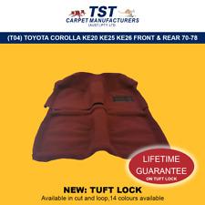MOULDED CAR CARPET (T04) TOYOTA COROLLA KE20 KE25 KE26 FRONT & REAR 70-78