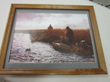 duck marsh  hunting picture framed matted ready for wall