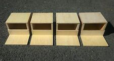"Four x  Finch Nest Nesting Breeding Boxes  7"" x 3.5"" x 5"""