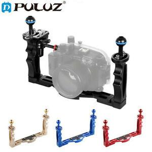 PULUZ Dual Handle Aluminium Tray Stabilizer Underwater Camera Housing for Gopro