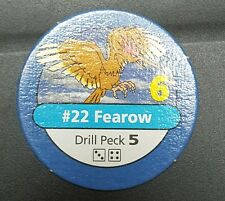 Pokemon Master Trainer #22 Fearow Drill Peck Blue Pog Playing Chip 1999