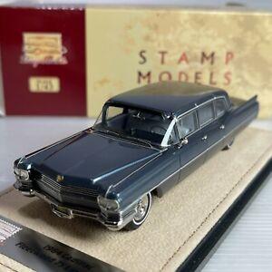 1/43 GLM Stamp Cadillac Fleetwood 75 Limousine 1964 Spruce Blue Met STM64103