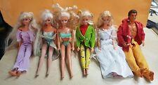 80541 BARBIE - Lotto 6 bambole Mattel vintage - anni '80/'90