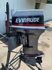 Used 1993 Evinrude 55 Hp 2-cylinder Carb 2-stroke 20 L Outboard Tiller Motor