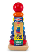 WOODEN RAINBOW STACKER # 576 ~ Melissa and Doug ~ Montessori Toy