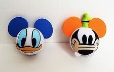 Disney - Donald Duck Face & Goofy Face Antenna Toppers Lot of 2