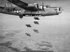 WWII Photo B-24D Liberator Bombing Austria  WW2 World War Two USAAF  / 5037