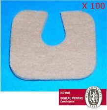 "#241 Adhesive Flesh Wool Felt Half-Moon Pads 1/8"" 100/BG Pre-Cut 241 Horseshoe"