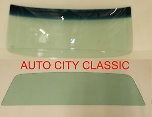1964 1965 1966 1967 Chevy El Camino Glass Windshield and Back Set Green