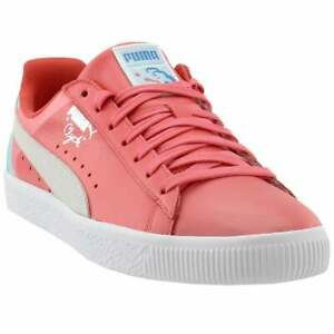 Puma Clyde X Pink Dolphin Lace Up  Mens  Sneakers Shoes Casual   - Pink