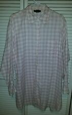 WOMENS METROPOLITAN NEW YORK PINK BUTTON DOWN LONGSLEEVE SHIRT SIZE L