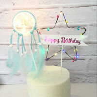 LED Flash Star Cupcake Cake Toppers For Birthday Cake Topper Party Decor Gifts