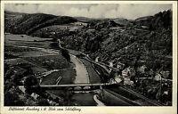 Arnsberg Sauerland alte s/w Ansichtskarte 1952 Panorama Blick vom Schloßberg