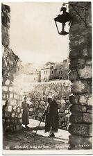 P.C View In the Old Town Jerusalem Israel Real Photographic Good Condition