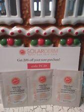 Set 3 solarderm after sun facial moisturizer 2g Sample size! New&Fresh!