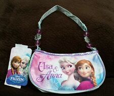 Disney Frozen Blue Elsa Anna satin purse clutch handbag costume dress up girls