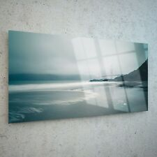 Wall Art Glass Print Canvas Picture Large Seafront Beach Sea New p113813 100x50