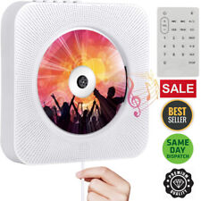 More details for portable cd player with bluetooth wall mountable cd players music player remote