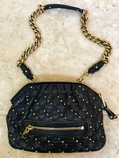 Marc Jacobs Stardust Studded Rock Bag Black Leather Crossbody