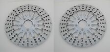 "DNA CHROME 2-PIECE FRONT 11.5"" BRAKE DUAL DISC ROTOR SET HARLEY TOURING FLHT/R/X"