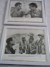 2 Original framed lobby card press photos mounted Purple hearts Ken wahl vietnam