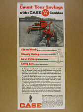 1949 Case MODEL A Combine farmer harvesting tractor photo vintage print Ad