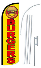 BURGERS Flag Kit 3' Wide Windless Swooper Feather Advertising Sign