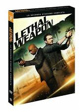 LETHAL WEAPON - STAGIONE 2 (4 DVD) COFANETTO ITALIANO, NUOVO