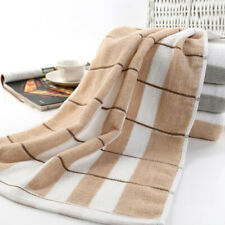 Soft Cotton Towel Durable Comfort Water Absorption Plaid Printed Towels Qk