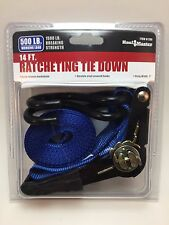 500 lb. Capacity 1 in. x 14 ft. Ratcheting Tie Down Secure heavy loads