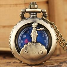 Retro Little Prince Design Men Boy Analog Quartz Pocket Watches Necklace Chain