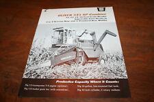 Oliver 545 Self Propelled Combine Brochure 12-16 ft Header 3-4 Row Corn 1966!