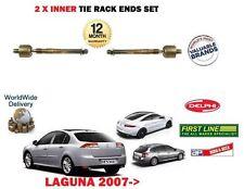 FOR RENAULT LAGUNA 2007 > NEW 2X INNER STEERING RACK TRACK TIE ROD ENDS