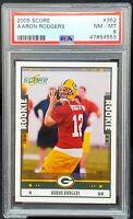 2005 Score Future HOF Packers - AARON RODGERS RC Football Card PSA 8.5 Low Pop
