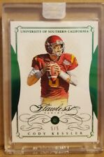 2017 Flawless Cody Kessler Rookie Emerald card #'d 5/5 USC Browns