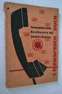 Original DDR Fernsprech Buch Nordhausen Sondershausen