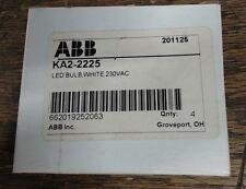 NIB lot of 4 ABB white 230VAC LED bulb KA2-2225 201125 Taunuslicht 0601 T3 1/4